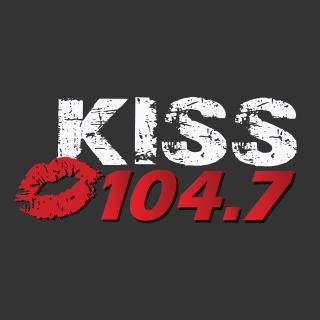 KISS 104.7 FM KXNC Logo