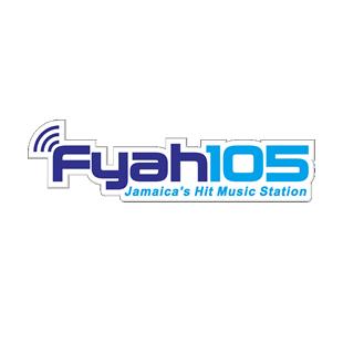 Fyah 105 - Jamaica's Hit Music Station Logo
