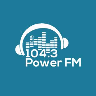 104.3 Power FM Guyana Logo