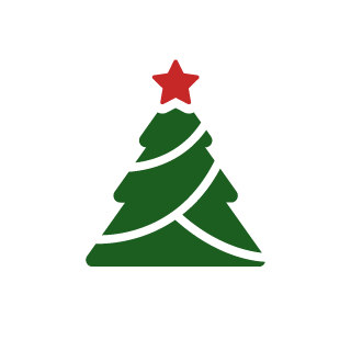 181.fm - Christmas Mix Logo