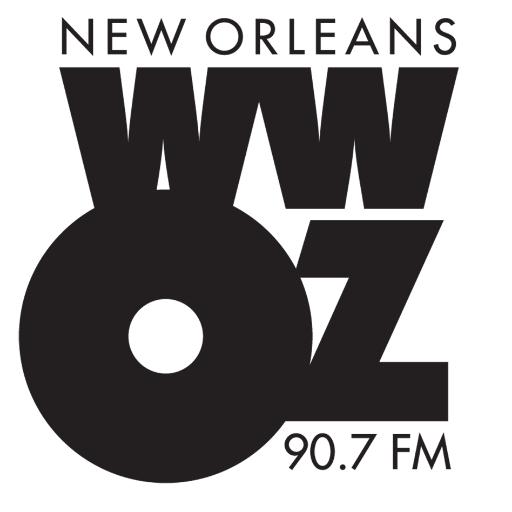 WWOZ 90.7 FM Logo