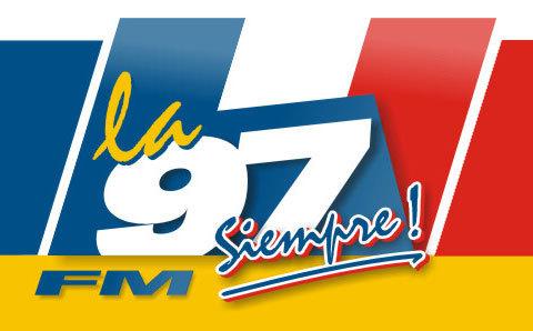 La 97 FM 97.3 - Mar del Plata Radio Logo